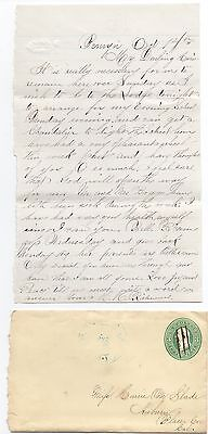 1870S Us Cover   Letter From Penryn Placer County Ca