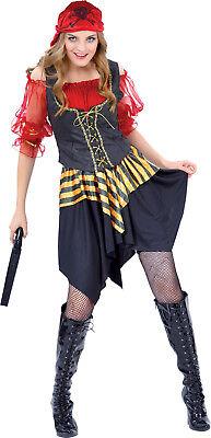 Gr. L Piratin Gertie Karneval Damen Frauen Pirat Kostüm Piratenbraut 87392