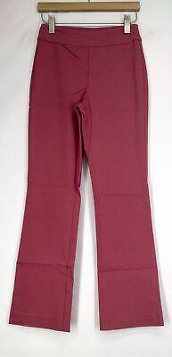 Marla Wynne FLATTERfit Boot Cut Pants w/ Mesh Tummy Panel Womens Panel Bootcut Pants