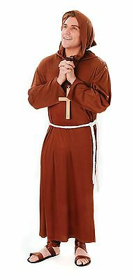 Monk / Friar Tuck Robe Halloween Religious Stag Fancy Dress Costume P7889