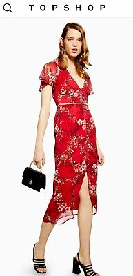 Floral Fitted Midi Dress by Hope & Ivy SIZE 10