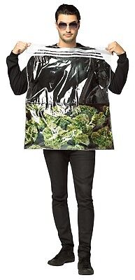 420 Halloween Costumes (Rasta Imposta Bag Of Weed 420 Pot Dope Adult Mens Halloween Costume)