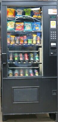 Ams Combination Canned Sodasnack Vending Machine - Great For Small Location