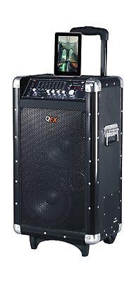 QFX PBX-3080BT Portable Battery Powered Bluetooth PA Speaker