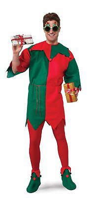 Red Green Costume (Economy Elf Tunic Top Red Green Adult Costume Accessory One Size NEW)