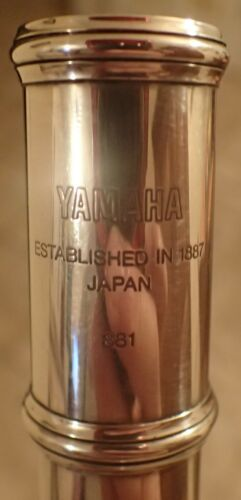YAMAHA 881 SILVER FLUTE in DOUBLE CASE