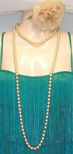 New-Vintage-1920-s-Style-Long-Charleston-Flapper-Necklace-Faux-Pearl-beads