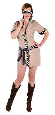 Safari Girl Lady Jungle Jäger Dschungel Urwald Kostüm Kleid Damen Sexy Jagd