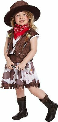 Cow Girl Fancy Dress Dressing Up Costume Kid Toddler Child Outfit World Book Day (Cowgirl Dressing Up Outfits)