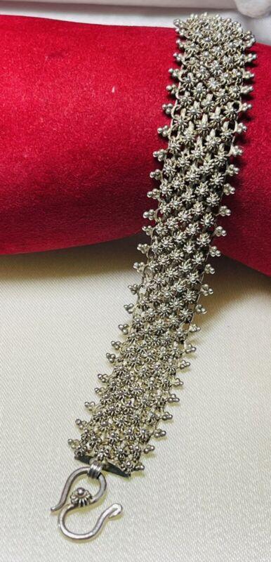 Vintage Persian Silver Filigree Bracelet Turkey Turkish