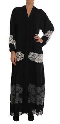 NEW $4500 DOLCE & GABBANA Dress Cape Black Silk Ricamo Kaftan Abaya IT40/ US6/S