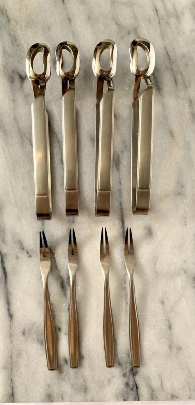 Germany Dreizack Rostfrei 18/8 Stainless Steel? Escargot Olive Tong & Picks/Fork