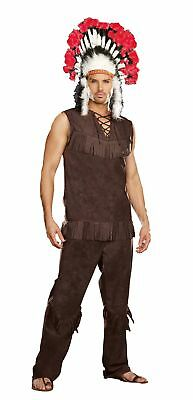 Chief Long Arrow Adult Men's Costume Native American Indian Halloween Headdress