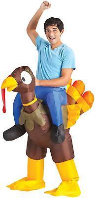 Inflatable Turkey Costume (ADULT INFLATABLE TURKEY RIDER ILLUSION FUNNY PARADE COSTUME)