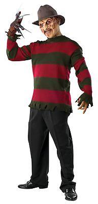 Freddy Krueger Deluxe Sweater Adult Mens Costume Nightmare Elm Street Halloween  - Deluxe Freddy Krueger Costume