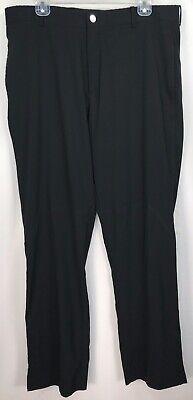 Men's 34x32 - Nike Tiger Woods Platinum Black Fit Dry Golf Pants Slacks