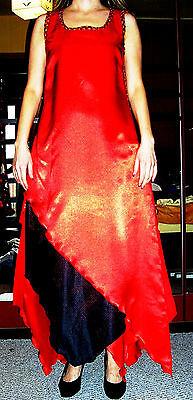 Rotes interessantes Karnevalskleid Gr. 36-40 - Interessante Kostüm