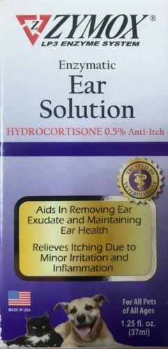 ZYMOX Ear Solution Hydrocortisone 0.5% Inflammation Relief 1.25 oz 37ml NEW!