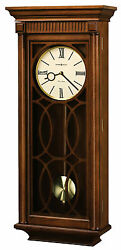 Howard Miller 625-525 (625525) Kathryn Triple-Chime Wall Clock, Tuscany Cherry