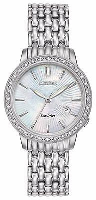 Citizen Eco-Drive Women's Silhouette Diamonds Accents 29mm Watch EW2280-58D