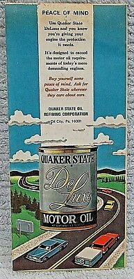 Old 1975-76 AMOCO Quaker State Motor Oil Nevada Utah Road Map Directory FREE S/H