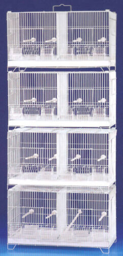 4-Combo Stackable Breeding Bird Cages Finches Aviaries Canary Center Dividers