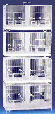 LARGE CAMBO 4 of Bird Finch Canary Breeding Breeder Cages W/Rolling Stand NEW375