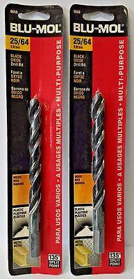 Blu Mol 6650 25 64  High Speed Drill Bit 2Pks