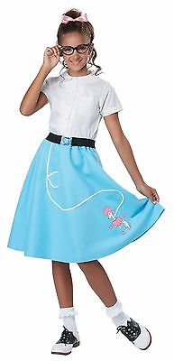 50s Poodle Skirt Girls Child Costume - Blue](Poodle Skirt Kids)
