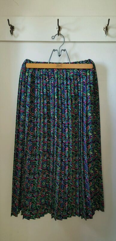 Vintage - 1980's - Made In The U.S.A - CC Courtnenay Psychedelic Skirt - 10