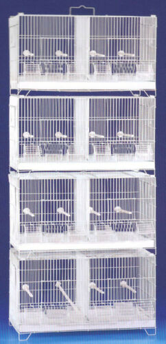COMBO: 4 Stackable Breeding Bird Cages For Aviaries Canary With Center Dividers
