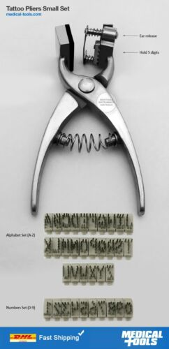 Tattoo Pliers Kit Small, Marking Pliers, Farm Animals, Livestock Identification