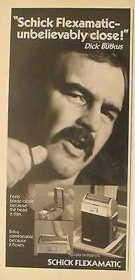 Dick Butkus~Chicago Bears Football Schick Razor Oddball Sports Trade Print Ad