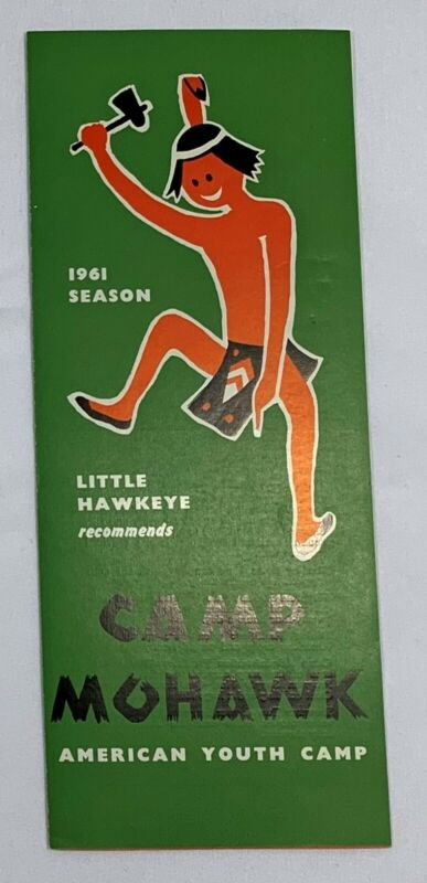 1961 CAMP MOHAWK BROCHURE - AMERICAN YOUTH CAMP - SOUTH RUISLIP MIDDLESEX UK