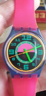 VINTAGE SWATCH WATCH -  GENTS  -  GN 103 GREEN ROOM -  PLUS BOX - AG 1988