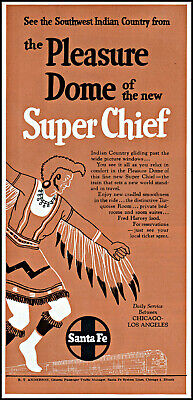 1951 SW Indian Country Santa Fe Super Chiel train vintage art print ad ads8
