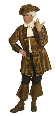 2tlg Herren Kostüm Barock Rokoko Gehrock Hemd Pirat Edelmann mittelalter NEU
