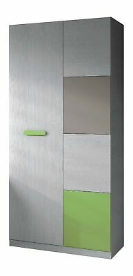 Armadio anta battente hesse D14 Grigio, Verde 91x52x200 h cm