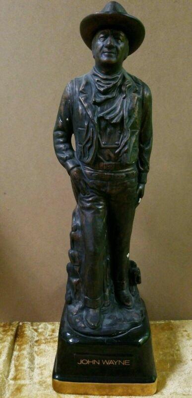 "John Wayne Limited Edition Ceramic Decanter 19""x6"" Bronze Statue"