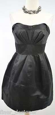 ZAK POSEN for target strapless fit flare Black Party Dress mini pleated SZ 5 NEW