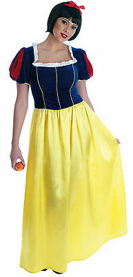 Ladies Full Long Length Snow White Fancy Dress Costume Outfit UK 8-26 Plus - Snow White Plus Size Costume Uk