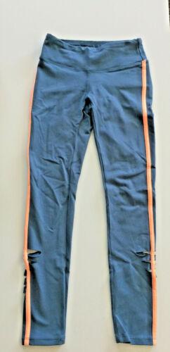 Jo+Jax Dancewear Rocket Blue/ Bright Peach Pulse Leggings Youth Medium