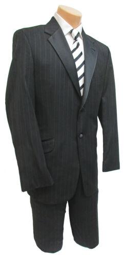 Boys 6 Black Joseph Abboud Striped Tuxedo & Pants Halloween Bond 007 Gangster