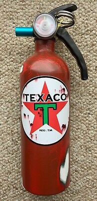 Rat Rod Texaco Distressed Look Car Boat Rv Fire Extinguisher.  New Metal Handle
