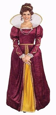 QUEEN ELIZABETH ROYAL QUEEN ADULT HALLOWEEN COSTUME WOMEN'S SIZE STANDARD