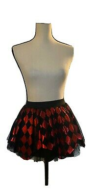 Harley Quinn Tutu Woman Skirt Adult Joker Queen Comic Character Halloween Party