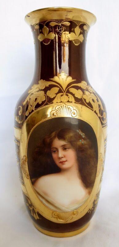 19th Century Royal Vienna Hand Painted Porcelain Vase
