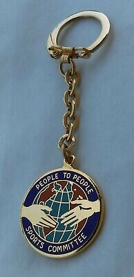 People to People - Sports Committee, vintage keychains, key ring !