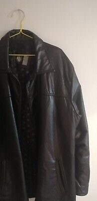 GV Emporio Gianni Versace Faux Leather Jacket Large Hand Made in Italy Vintage
