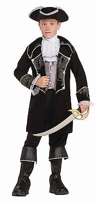 Boys Deluxe Pirate Costume Kids Swashbuckler Colonial Officer Size Small -